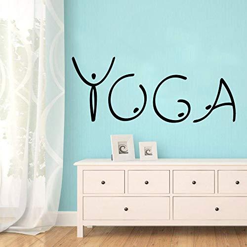Preisvergleich Produktbild Yoga Wandaufkleber Moderne Mode Wandaufkleber Für Kinderzimmer Wandkunst Aufkleber Rot L 57 cm X 22 cm
