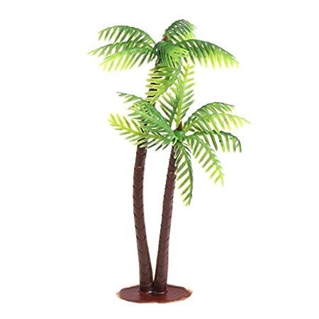 JAGENIE – Künstliche Miniatur-Kokospalmen, Modell-Palmen für Modellbau-Landschaft, Wohndekoration
