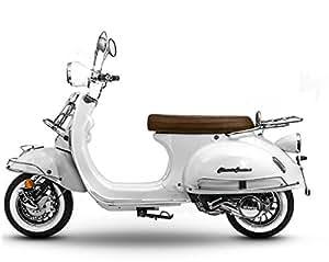 retro roller classiccruiser 125 scooter pearl white car motorbike. Black Bedroom Furniture Sets. Home Design Ideas