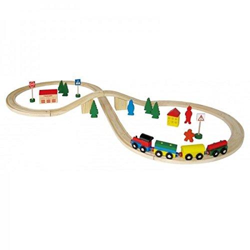 *Holzeisenbahn Set 40-teilig inkl. Schienen*