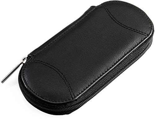 "Empty Manicure Case ""Tellus"" black leather. For equipping with nail scissors, files, tweezers etc."