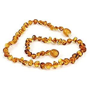 Baltic amber Necklace, Honey, 32cm