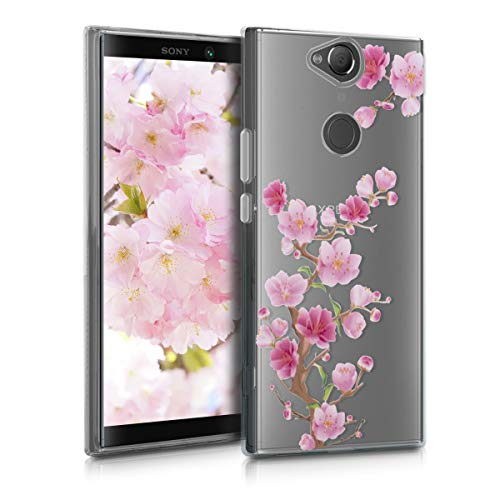kwmobile Sony Xperia XA2 Plus Hülle - Handyhülle für Sony Xperia XA2 Plus - Handy Case in Pink Rosa Transparent