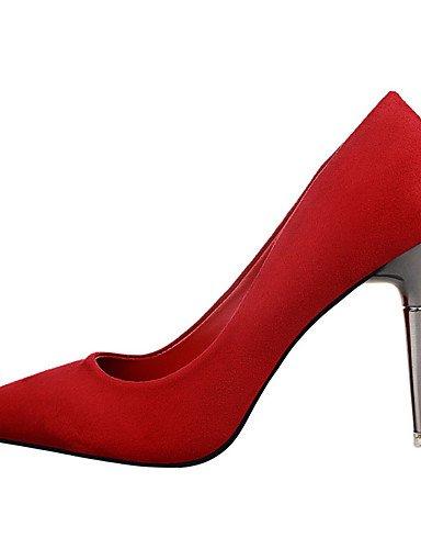 WSS 2016 Chaussures Femme-Extérieure / Bureau & Travail / Soirée & Evénement-Noir / Rose / Rouge / Gris / Bordeaux / Fuchsia-Talon Aiguille-Talons gray-us7.5 / eu38 / uk5.5 / cn38