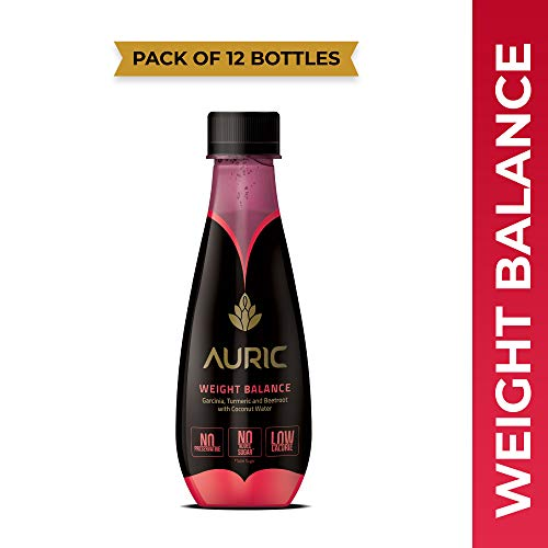Auric Natural Weight Loss / Management Juice for Men Women Ayurvedic Drink with Garcinia Cambogia ,Beetroot ,Turmeric and Coconut Water 12x250 ML