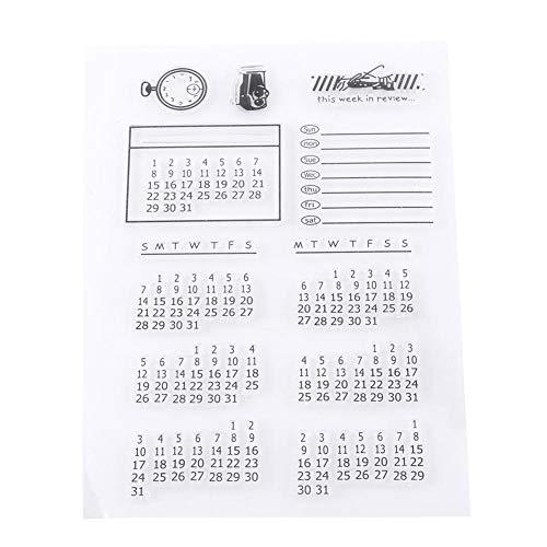 sparentes Siegel für Scrapbooking-Fotoalbum Dekorativer Kalender ()