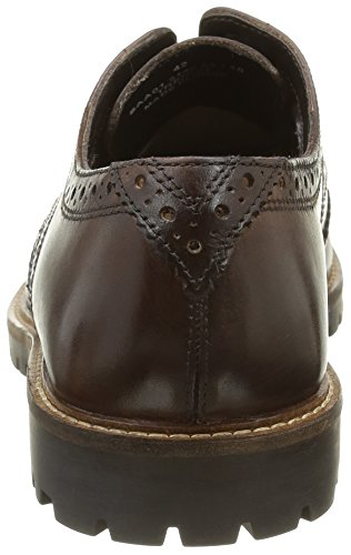 Base London Trench, Brogues Homme Marron (Brown Washed)
