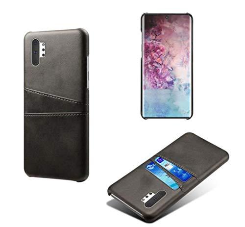 Lozeguyc Schutzhülle für Galaxy Note 10, mit Kreditkartenfächern, aus PU-Leder, mit Geldbeutelhalterung für Samsung Galaxy Note 10 Samsung Galaxy Note 10 Plus schwarz -