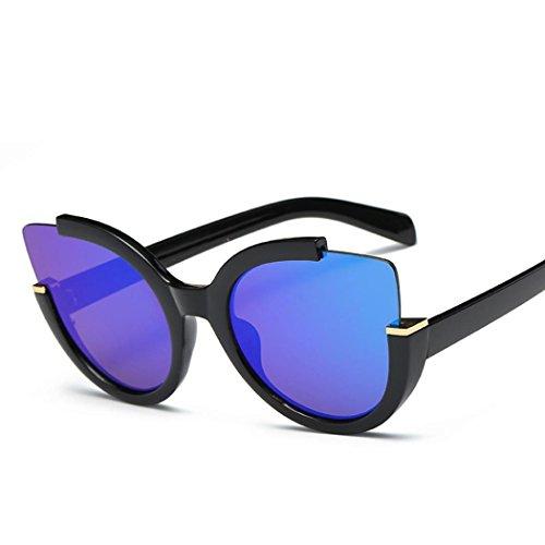 Damen Männer Retro Brille Unisex Aviator Spiegel Objektiv Sonnenbrille Von Xinan (♥, D) (Aviator Kostüme)
