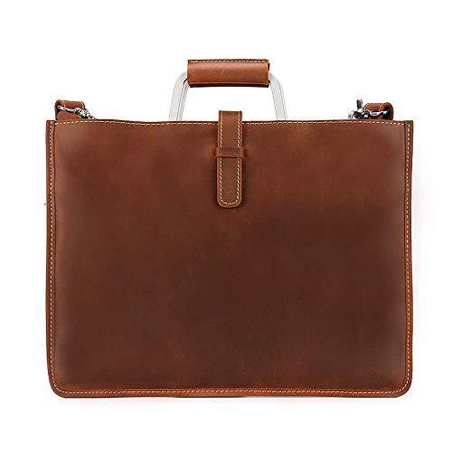 Yuany 14,8 'Laptop-Tasche Aktentasche Wasserabweisende erweiterbare Computer-Tasche Business Messenger Bag ShUmhängetasche für Schule/Reisen/Damen/Herren (Farbe: BRAUN) -