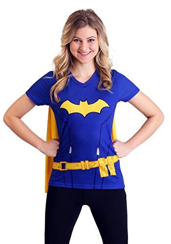 (Batgirl Cape Fancy Dress Costume T-Shirt for Women 2X)