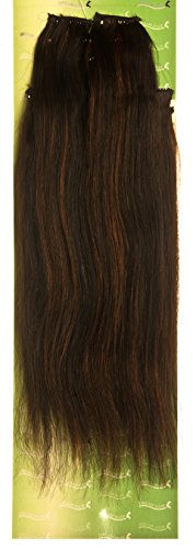 'Dream Hair Extensions à clip Lot de 8 Pièces lisse 22/56 cm Noir rougeâtre méché