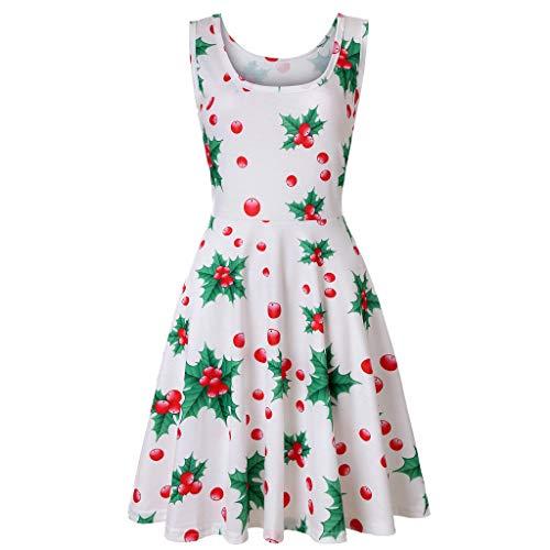 50er Vintage Kleider, UFACE Damen Vintage Polka Dots A-Linie Ohne Arm Rockabilly Kleid Cocktailkleider Swing Kleider 1950er Retro Sommerkleid