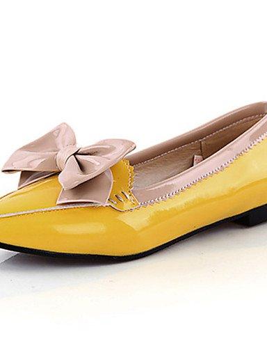 DFGBDFG PDX/Damen Schuhe Patent Leder flach Ferse Komfort/Ballerinas Office & Karriere/Kleid/Casual Schwarz/Gelb/Rot, red-us10.5/eu42/uk8.5/cn43 - Größe: One Size (Schuhe Red Leder-ballerina-flache Patent)