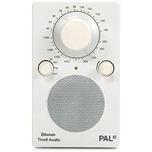 "Tivoli Audio PAL BT - Radio (Portátil, Analógico, AM, FM, 63.5 mm, 63.5 mm (2.5 ""), 3,5 mm) Color blanco (importado)"