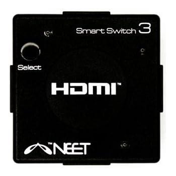 Neet® - 3 Port HDMI AUTO SWITCH 3x1 Mini Hub Box (3 way input 1 output) 1080p Full HD v1.3b HDMI Switcher