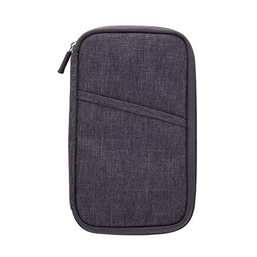 Vlook 2pcs tragbare große Kapazität wasserdichte Nylon-Passhülle, Sicherheit stilvoll und langlebig, für die Reise nach Hause Camping Geschäftsreise -
