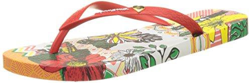 Ipanema I Love Tribal Fem, Infradito Donna Bianco (White/Red)