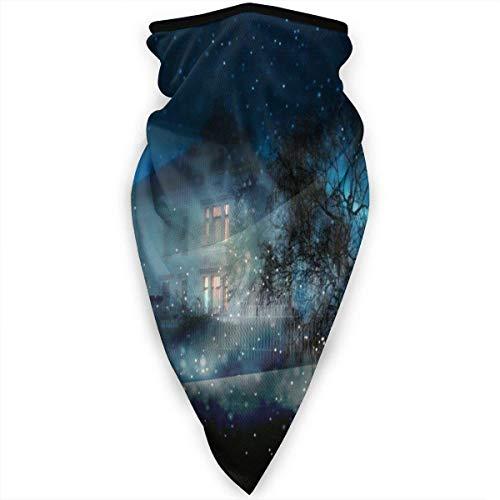 Wfispiy Scaldacollo da Neve al Chiaro di Luna Passamontagna Antivento Maschera a Pieno facciale Unisex Sciarpa a Prova di Sole Copricapo a Prova di Polvere Cappuccio per Outd