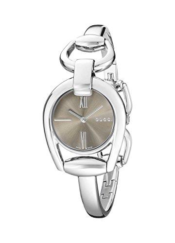 Gucci YA139501 - Reloj de cuarzo para mujer, con correa de acero inoxidable, color plateado