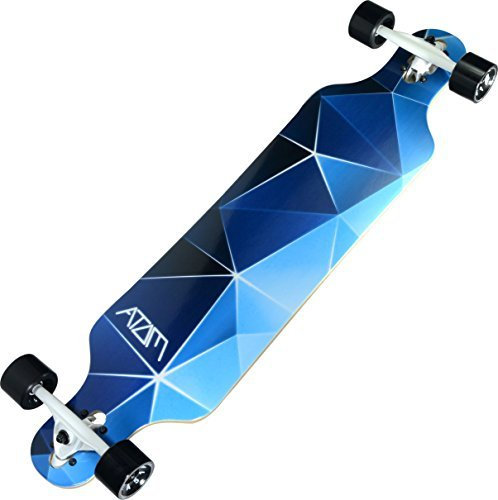 Atom Longboards Atom Drop Through Longboard - 40 , Blue Geo by Atom Longboards
