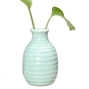 Cdet Florero pequeño jarrón de cerámica artesanía Sencilla Muebles de Oficina Creativa Escritorio de cerámica frascos de Aroma Verde