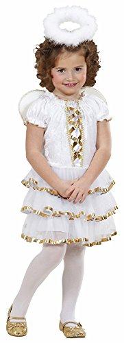 Kleiner Engel Kostüm für Kinder mit Flügeln und Heiligenschein - Gr. (Kleinkind Kostüme Engel Kleiner)