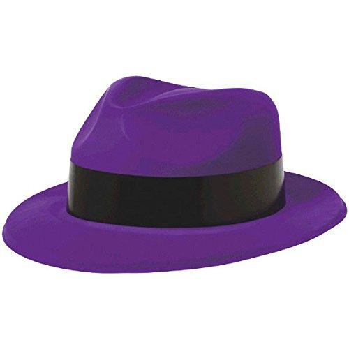 �cm Totally 80s Kunststoff Fedora Hüte, Violett (Kunststoff-fedora-hüte)
