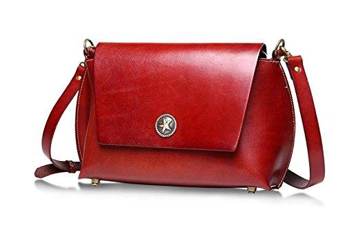 DJB/Freizeit Fashion Damen vorgebräunte Haut Leder Damen Tasche Retro Umhängetasche Rot