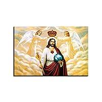Specifiche: Nome dell'articolo: Pittura. Materiale: tela. Quantità: 1 pezzo. Caratteristiche: non incorniciato, decorazione da parete, motivo personaggio di Gesù Cristo, poster, decorazione per la casa, regalo di Pasqua. Dimensioni: S:...