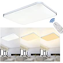 MCTECH 48W LED Warmweiss Kaltweiss 2700K 6000K Dimmbar 320 4320LM Deckenleuchte Modern Deckenlampe
