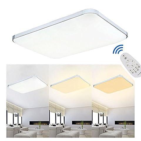 MCTECH 48W LED Warmweiß-Kaltweiß 2700K- 6000K Dimmbar 320-4320LM Deckenleuchte Modern Deckenlampe Flur Wohnzimmer Lampe Schlafzimmer (48W Dimmbar)