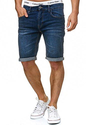 INDICODE Herren Caden Cuba Shorts Denim Shorts Blue L