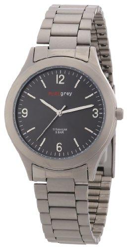 Pure grey n. 1320 S - Reloj de caballero de cuarzo, correa de titanio color gris