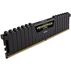 Corsair Vengeance LPX Memorie per Desktop a Elevate Prestazioni, 16 GB (2 X 8 GB), DDR4, 3200 MHz, C16 XMP 2.0, Nero