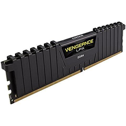 Corsair Vengeance LPX - Módulo de memoria XMP 2.0 de alto rendimiento de 16 GB (2 x 8 GB, DDR4, 3200 MHz, CL16), negro (CMK16GX4M2B3200C16)