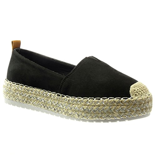 angkorly-scarpe-da-moda-espadrillas-zeppe-slip-on-donna-finitura-cuciture-impunture-tacco-zeppa-35-c