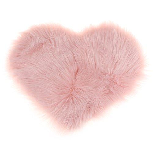 Sharplace Herz Form Teppich Kinderzimmer Weich Plüsch Kinderteppich für Schlafzimmer Wohnzimmer - Rosa -