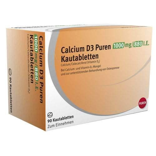 D3 Kautabletten (Calcium D3 PUREN 1000mg/8 90 stk)