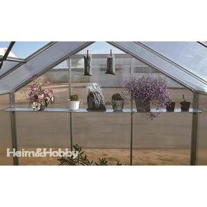 Aluminium Hängeboard / Regal für Gartentec Gewächshaus Typ F2 bis F6