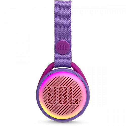 JBL JR POP Portable Wireless Speaker with Light Feature for Kids, Fun Speaker for Little Music Fans, Purple
