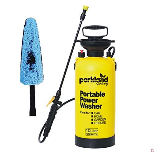 Parkland® 10 Liter Handpumpe Handdruckreiniger Sprühbürste Garten Drucksprüher Knapsack Unkrautvernichter Chemischer Zaun Wasser Sprühflasche 10L