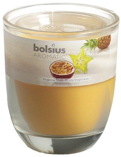 Fruit Gel-kerze (Ivyline Bolsius 80x 70mm Duftkerze Jar Glas, Tropical Fruit)