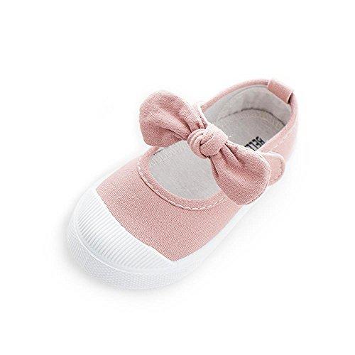 ALUK- Canvas Kinderschuhe Kleine weiße Schuhe Baby Schuhe Studenten Schuhe ( farbe : Pink , größe : 26 ) Pink