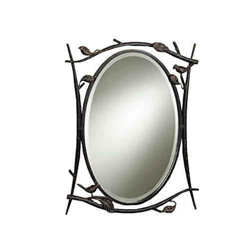 GWFVA Spiegel Gesundheit UK Land Oval Badezimmer Bronze Villa Moderne einfache Wand-Anhänger Willkommen