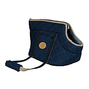Viktoria-Dog-Bag-Dark-blue-light-blue-26–29–50-cm