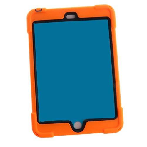 Haut Fall (MagiDeal 1 Stück Schützende Haut Fall Abdeckung Stehen Für Tablet aus Silikon Orange - für Ipad Mini 1 2 3)