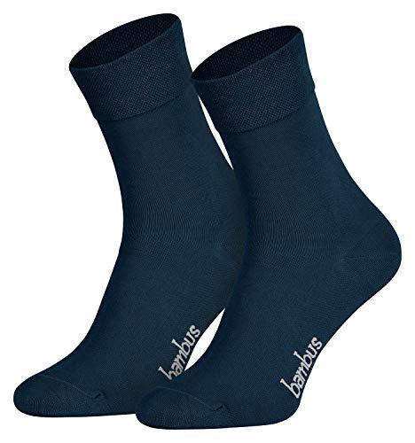 Piarini Gr. 39 40 41 42 6 Paar Bambussocken Herrensocken Anzugsocken lang antibakteriell bamboo socks blau marine