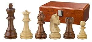 Philos 2185 Artus - Piezas de ajedrez (altura del rey 83 mm, doble peso, en caja), color marrón