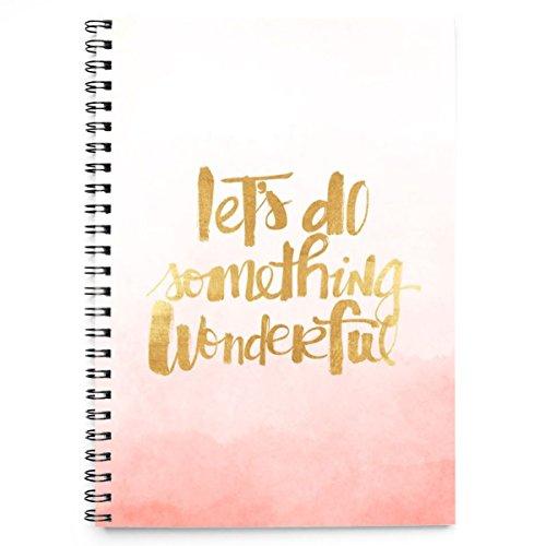 Let's do something wonderful quotes pastel cover spiralbindung notizbuch 50 blatt (A5)